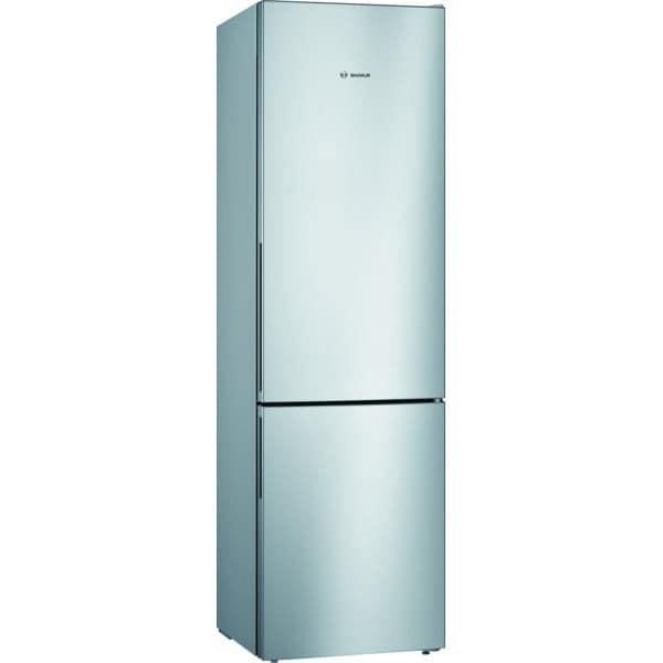 Combina frigorifica BOSCH KGV39VLEAS, 343 l, H 201 cm, Clasa E, argintiu