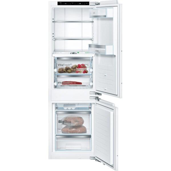 Combina frigorifica incorporabila BOSCH KIF86PFE0, No Frost, 223 l, H 177.2 cm, Clasa E, alb