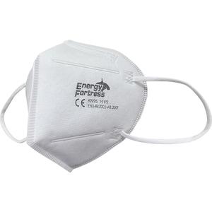 Set masti de protectie de unica folosinta ENERGY FORTRESS KN95, FFP2, 4 straturi, 10 bucati, alb