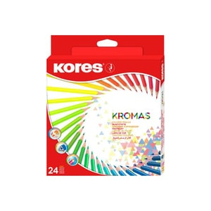 Creioane colorate KORES Kromas, 24 culori