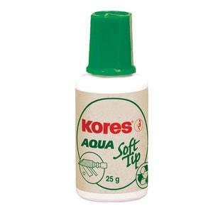 Corector fluid KORES, 20 ml, pe baza de apa, aplicator burete