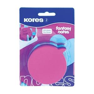 Notite adezive KORES, 250 file, forma idee, diverse culori