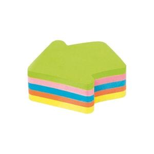 Notite adezive KORES, 250 file, forma sageata, diverse culori