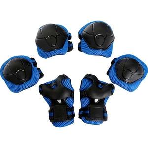Kit de protectie MYRIA Sky Rider MY7033, Cotiere, Genunchiere, Protectie pentru palme, albastru