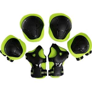 Kit de protectie MYRIA Sky Rider MY7033, Cotiere, Genunchiere, Protectie pentru palme, verde