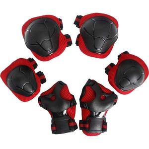 Kit de protectie MYRIA Sky Rider MY7033, Cotiere, Genunchiere, Protectie pentru palme, rosu