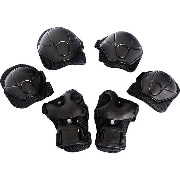 Kit de protectie MYRIA Sky Rider MY7033, Cotiere, Genunchiere, Protectie pentru palme, negru