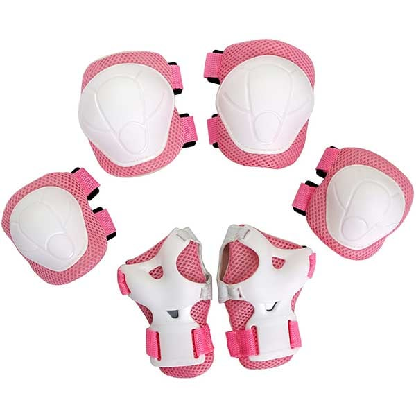 Kit de protectie MYRIA MY7033, Cotiere, Genunchiere, Protectie pentru palme, roz
