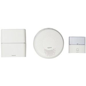 Sonerie dubla wireless LEGRAND Serenity, USB, MP3, 200m, alb