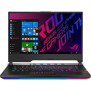 "Laptop Gaming ASUS ROG Strix Scar lll G531GU-ES196T, Intel Core i7-9750H pana la 4.5GHz, 15.6"" Full HD, 16GB, SSD 256GB + 1TB HDD, NVIDIA GeForce GTX 1660 Ti 6GB, Windows 10 Home, Gunmetal Gray"