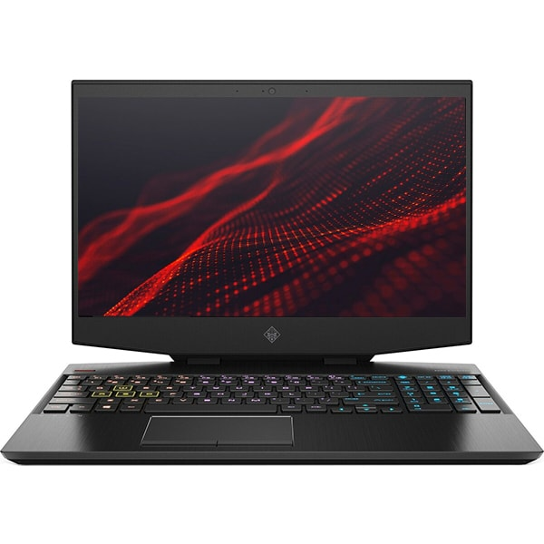 "Laptop Gaming HP Omen 15-dh1010nq, Intel Core i7-10750H pana la 5.0GHz, 15.6"" Full HD, 16GB, HDD 1TB + SSD 512GB, NVIDIA GeForce RTX 2060 6GB, Free DOS, negru"