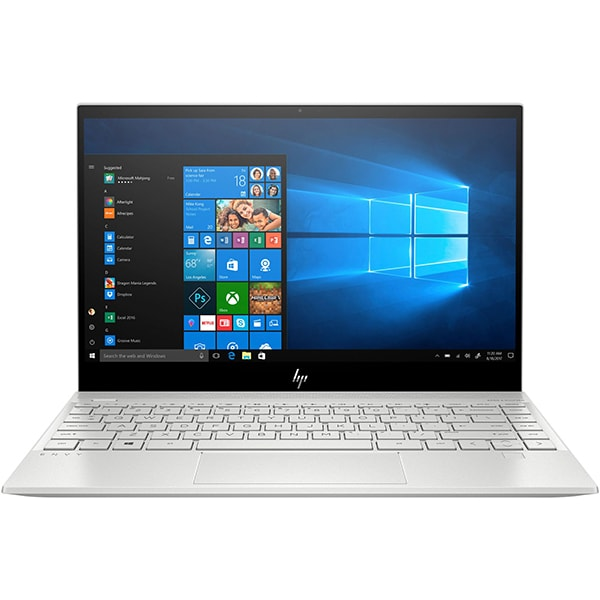 "Laptop HP Envy 13-aq1007nq, Intel Core i7-10510U pana la 4.9GHz, 13.3"" Full HD, 8GB, SSD 256GB, NVIDIA GeForce MX250 2GB, Windows 10 Home, argintiu"