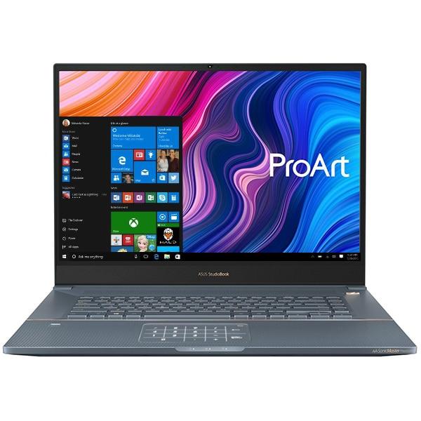 """Laptop ASUS ProArt StudioBook Pro W700G1T-AV015R, Intel Core i7-9750H pana la 4.5GHz, 17"""" WUXGA, 16GB, SSD 1TB, NVIDIA Quadro T1000 4GB, Windows 10 Pro, Turquoise Gray"""