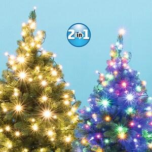 Ghirlanda luminoasa HOME LED202R/WW/M, 200 led-uri, 14m, iluminare alb cald/color
