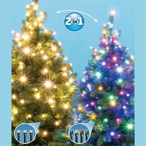 Ghirlanda luminoasa HOME LED205/WW/M, 200 led-uri, 14m, iluminare alb cald/multicolor