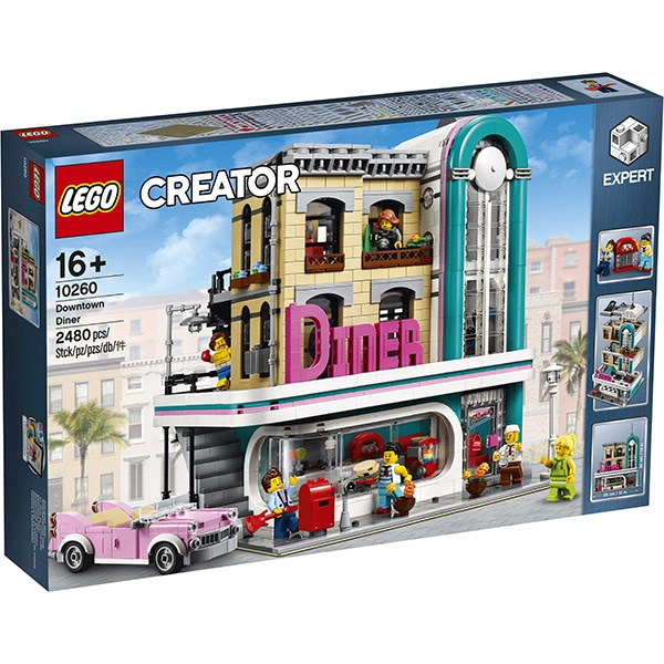 LEGO Creator Expert: Downtown Diner 10260, 16 ani+, 2480 piese