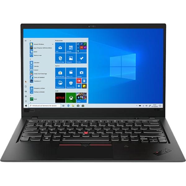"""Laptop LENOVO ThinkPad X1 Carbon Gen6, Intel Core i7-8550U pana la 4.0GHz, 14"""" Full HD, 16GB, SSD 1TB, Intel UHD Graphics 620, Windows 10 Pro, Negru"""