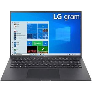 "Laptop LG Gram 16Z90P, Intel Core i7-1165G7 pana la 4.7GHz, 16"" WQXGA, 16GB, SSD 512GB, Intel Iris Xe Graphics, Windows 10 Home, negru"