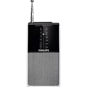 Radio portabil PHILIPS AE1530/00, FM/MW, argintiu-negru