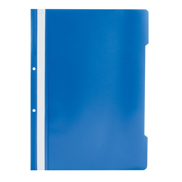 Dosar cu sina si 2 perforatii NOKI, A4, polipropilena, 50 bucati, albastru