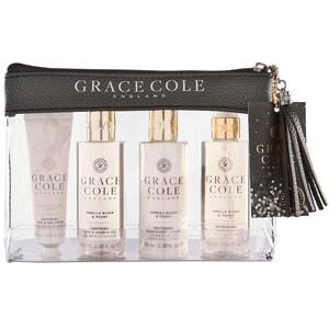 Set cadou GRACE COLE Vanilla Blush&Peony: Lotiune de corp, 100ml + Spray de corp, 100ml + Gel de dus, 100ml + Crema de maini, 30ml