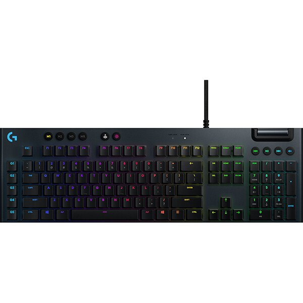 Tastatura Gaming mecanica LOGITECH G815 Tactile Switch, USB, Layout INT, negru