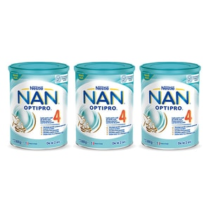 Pachet lapte praf NESTLE NAN Optipro 4 12395967, 2 ani+, 3 x 800g