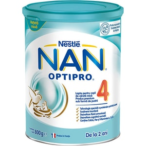 Lapte praf NESTLE NAN Optipro 4 12426540, 2 ani+, 800g