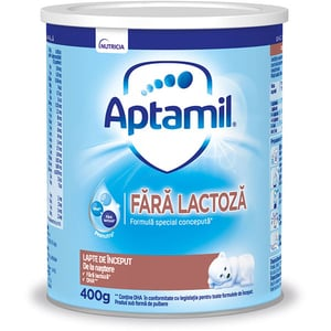 Lapte praf fara lactoza APTAMIL Pronutra 21806, 0 luni+, 400g