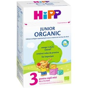 Lapte praf HIPP Junior Organic 3 1343, 12 luni+, 500g