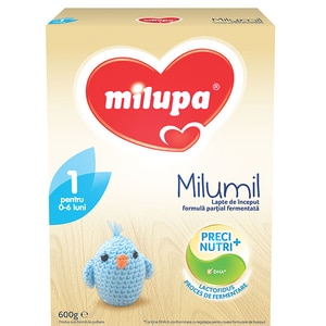 Lapte praf MILUPA MILUMIL 1 PreciNutri 615697, 0-6 luni, 600g