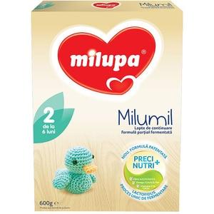 Lapte praf MILUPA MILUMIL 2 PreciNutri 615699, 6-9 luni, 600g