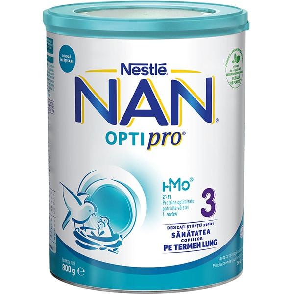Lapte praf NESTLE NAN Optipro 3 HM-O 12426352, 1-2 ani, 800g