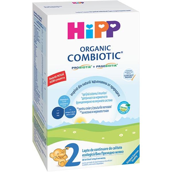 Lapte praf HIPP Organic Combiotic 2 1339, 6 luni+, 300g