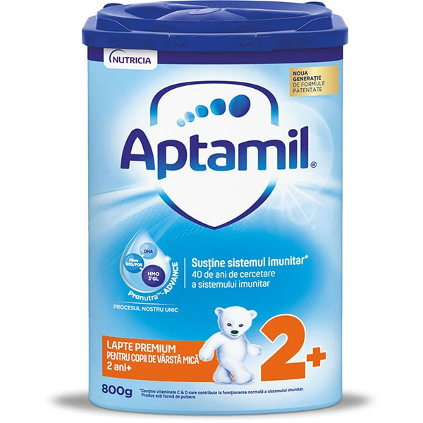 Lapte praf APTAMIL Junior 2+ Pronutra Advance 607464, 2 ani+, 800g