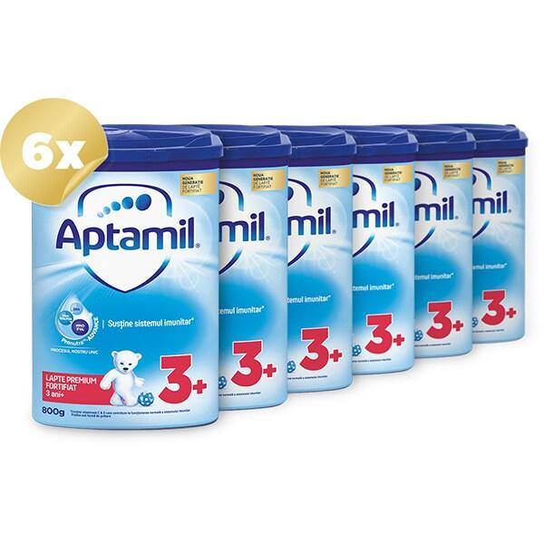 Pachet 6 x lapte praf APTAMIL Junior 3+ Pronutra Advance PACK03, 3 ani+, 800g