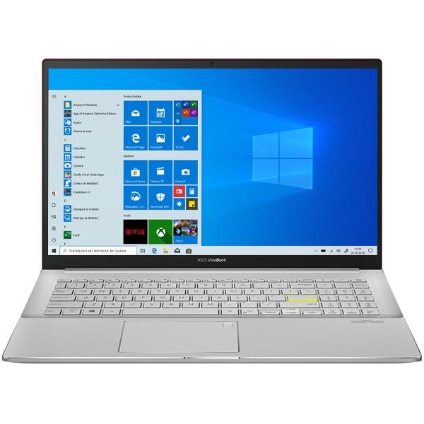 "Laptop ASUS VivoBook S15 M533IA-BQ043T, AMD Ryzen 5-4500U pana la 4.1GHz, 15.6"" Full HD, 8GB, SSD 512GB, AMD Radeon Graphics, Windows 10 Home, rosu"