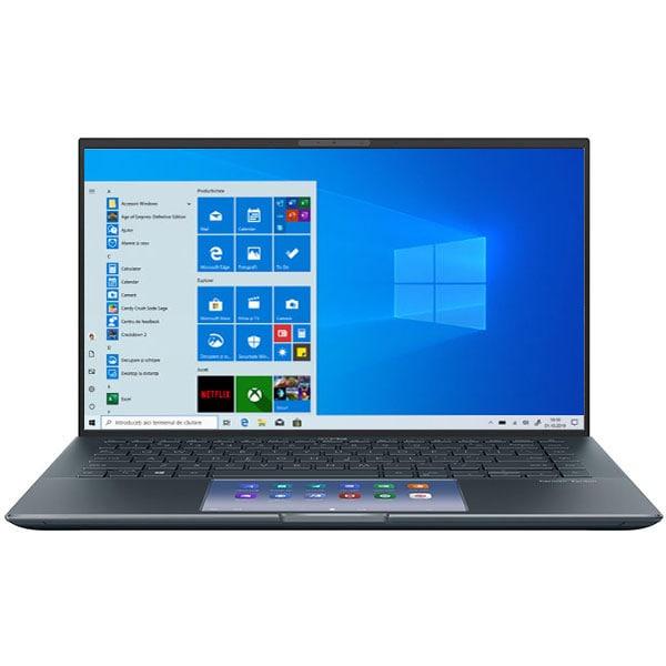"Laptop ASUS ZenBook 14 UX435EG-A5021T, Intel Core i5-1135G7 pana la 4.2GHz, 14"" Full HD, 8GB, SSD 512GB, NVIDIA GeForce MX450 2GB, Windows 10 Home, gri"