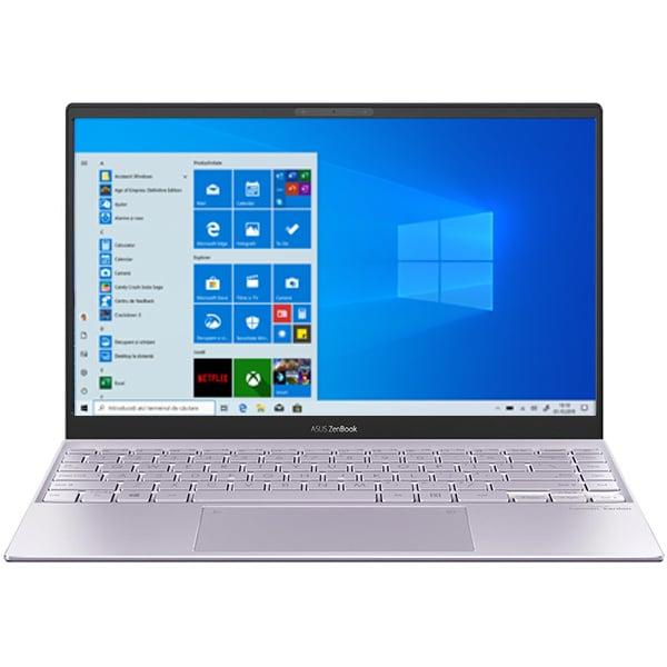 "Laptop ASUS Zenbook 13 UX325EA-EG038T, Intel Core i7-1165G7 pana la 4.7GHz, 13.3"" Full HD, 16GB, SSD 1TB, Intel Iris Xe Graphics, Windows 10 Home, Lilac Mist"