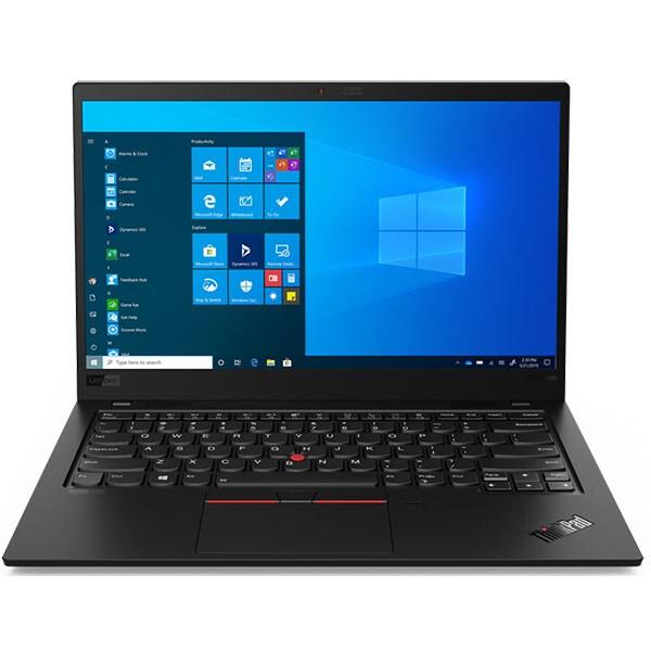 """Laptop LENOVO ThinkPad X1 Carbon Gen 8, Intel Core i5-10210U pana la 4.2GHz, 14"""" Full HD, 16GB, SSD 512GB, Intel UHD Graphics, Windows 10 Pro, negru"""
