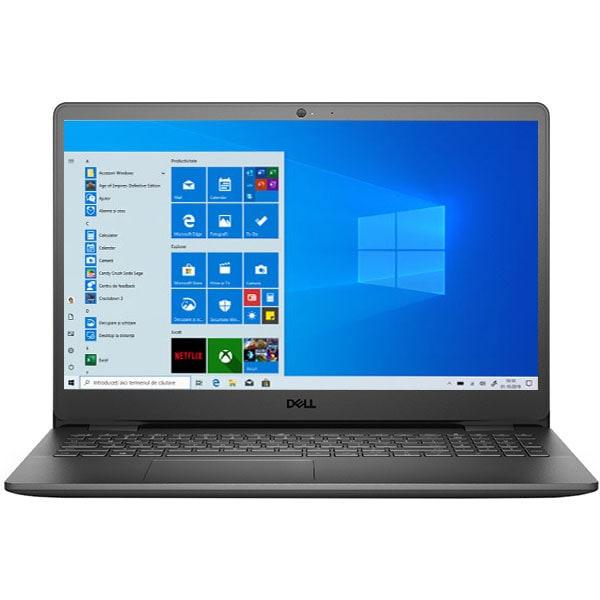 "Laptop DELL Inspiron 3501, Intel Core i3-1005G1 pana la 3.4GHz, 15.6"" HD, 4GB, SSD 128GB, Intel UHD Graphics, Windows 10 Home S, negru"