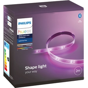 Banda LED smart Philips Hue LightStrip 7190155PH, Wi-Fi, LED RGB, 20W, 1600lm, 2m