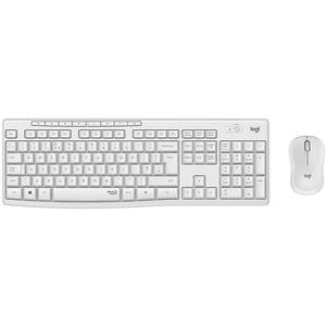 Kit tastatura si mouse Wireless LOGITECH MK295, USB, alb