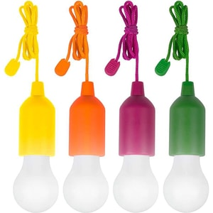 Set 4 lampi LED MEDIASHOP Handy Lux M13485, Galben, Orange, Verde, Mov