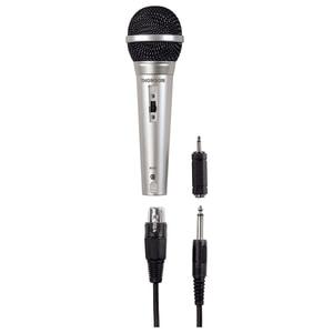 Microfon dinamic karaoke THOMSON M151, Jack 6.35 mm, Slot XLR, argintiu