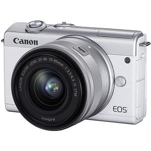 Aparat foto Mirrorless CANON EOS M200, 24.1 MP, Wi-Fi, alb + Obiectiv 15-45mm IS