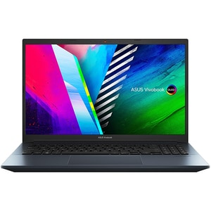 "Laptop ASUS Vivobook Pro 15 OLED M3500QC-L1258, AMDRyzen75800H pana la 4.4GHz, 15.6"" Full HD, 16GB, SSD 1TB, NVIDIAGeForceRTX3050 4GB, Free Dos, albastru"