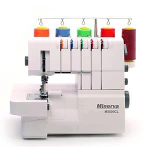 Masina de cusut combinata MINERVA M5000CL, 24 tipuri de cusatura, alb