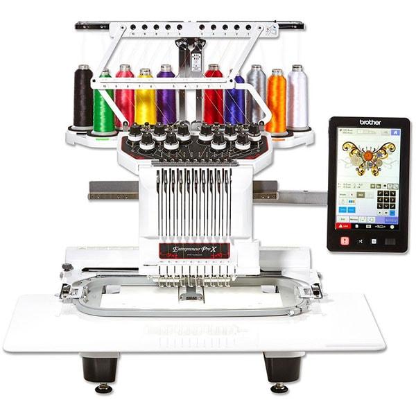 Masina de brodat BROTHER Entrepreneur Pro X PR1050X, 699 modele broderie, arie 20 x 36 cm, 1000 imp./min, alb-negru