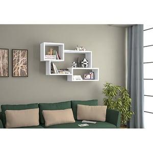 Raft perete Cadelin, 87 x 22 x 54 cm, alb